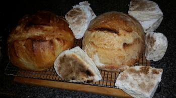 loaves of bread and irish soda farls