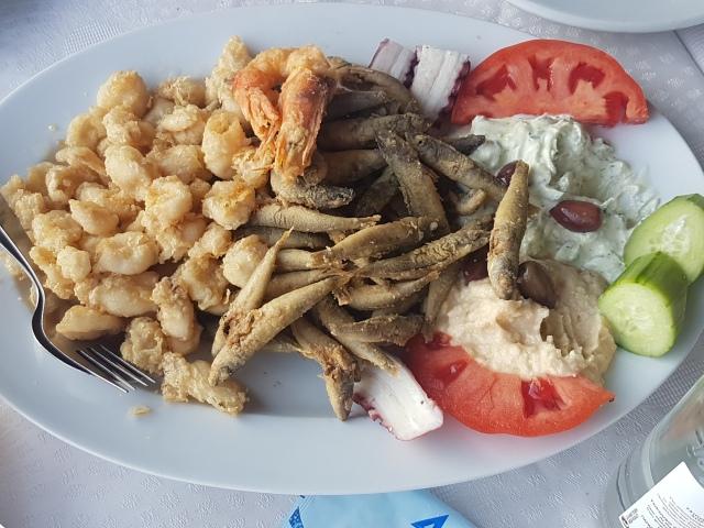 greek seafood sampler platter